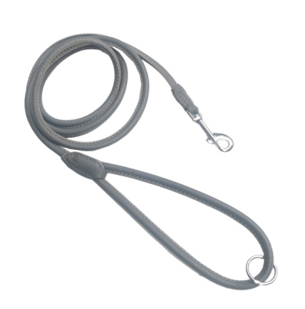 Wimborne Round Leather Leash - Grey