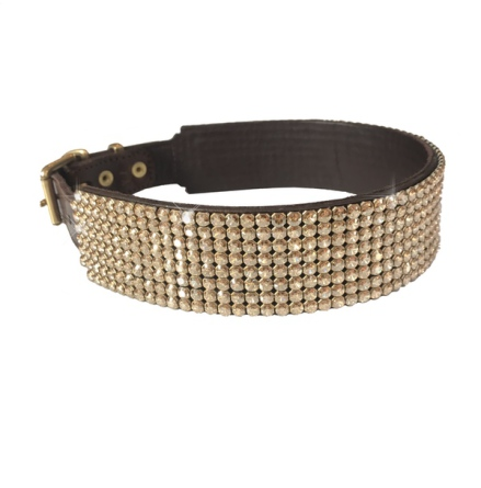 Royal Swarovski Crystal Collar - Brown/Champagne