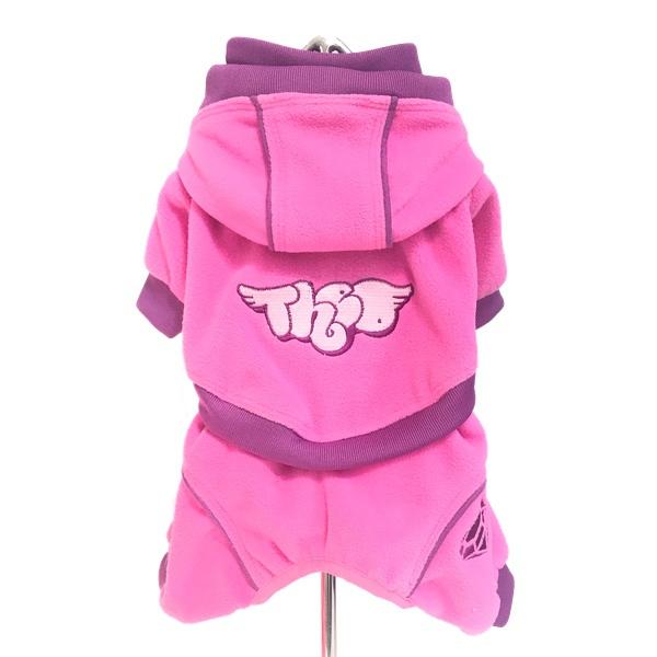 Fleece Overall w Removable Pants - Pink