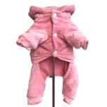 Buffy 4-legs Plush Rhinestone Suit - Baby Pink