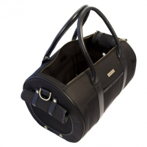 Canvas Bag w Brass Details - Black