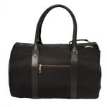 Canvas Bag w Brass Details - Black