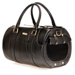 Real Leather Bag w Brass Details - Black