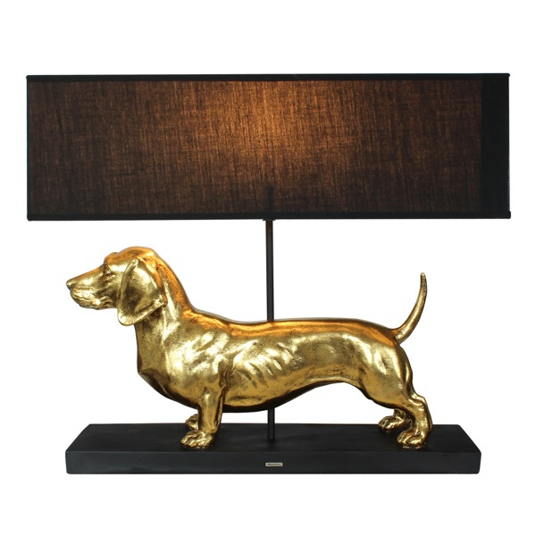 Lamp with the Golden Dachshund - 60x14x49,5cm