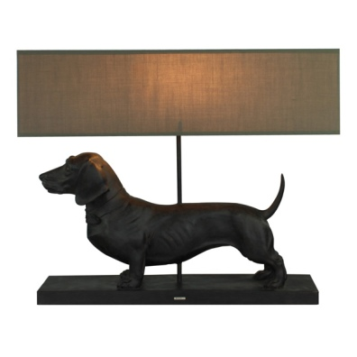 Lamp with the Brown Dachshund
