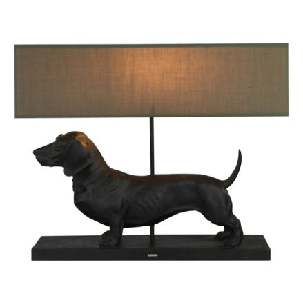 Lamp with the Brown Dachshund - 60x14x48,5cm