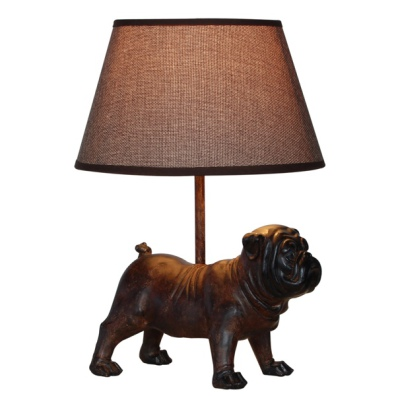Lamp with Brown Bulldog