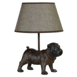Lamp with Brown Bulldog - 25,5x24,5x32cm