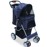 Pet Trolley with Rain Cover Max12kg - Black/Navy
