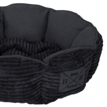 Corduroy Pet Bed - Black