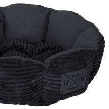 Corduroy Pet Bed - Black 46x46x14cm