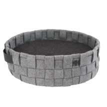 Round Dog Bed felt - Grey