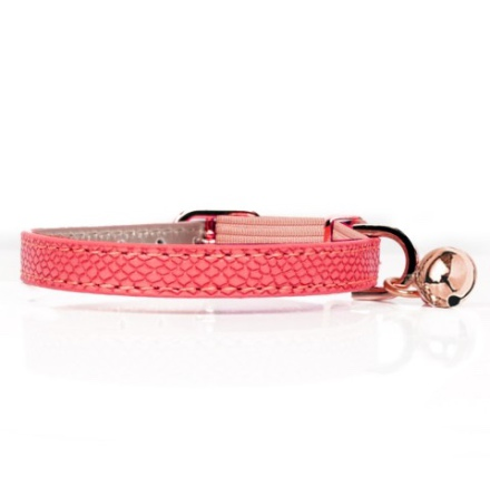 Cat Collar Naja - Pink  Length:22-27cm Tot:30cm Width:1cm