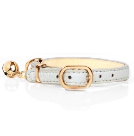 Cat Collar Berlioz - White  Length:22-27cm Tot:30cm Width:1cm