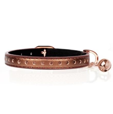 Cat Collar Vega - Copper Length:22-27cm Tot:30cm Width:1cm