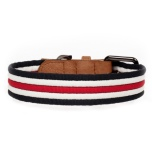 Heritage Striped Collar - Navy/White/Red