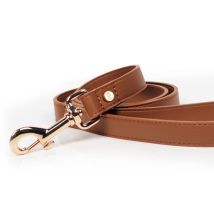 Quarts Vegan leather Leash - Cognac