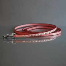 PINK LEASH W SOFT RIVETS