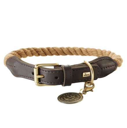 List Hunter Collar Leather and Rope - Beige