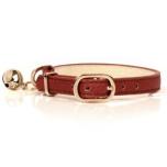 Cat Collar Berlioz - Cognac  Length:22-27cm Tot:30cm Width:1cm