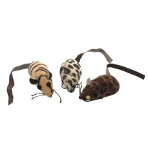 Safari Catnip Fun Mice 3pcs - Animal Print