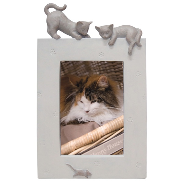 Picture Frame 2 Cats and a Mouse - Beige 27x16,5x3,5cm