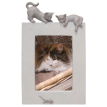 Picture Frame 2 Cats and a Mouse - Beige