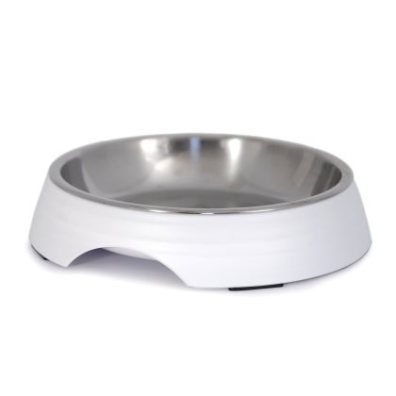 Low Food Bowl Amy - White