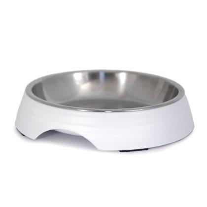 Low Food Bowl Amy - White 14x3cm