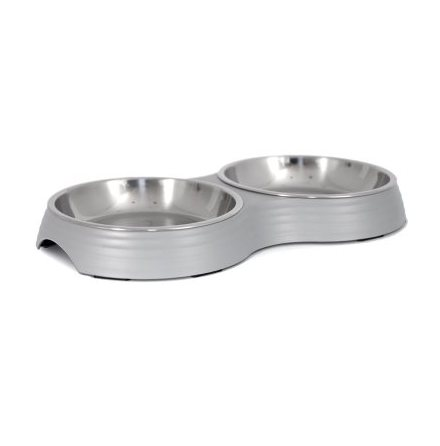 Low Double Food Bowl Amy - Grey