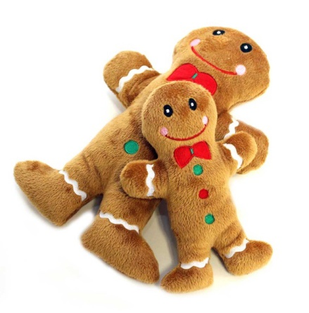 Dog Toy Gingerbread Man - Brown