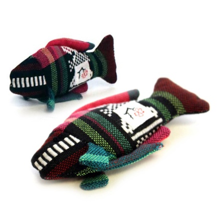 Handmade Valerian Cat Toy Fish - Various Colors