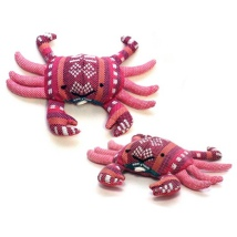 Handmade Valerian Cat Toy Crab - Various Colors