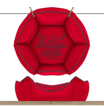 Sofa Wonderfull Hexagonal Detachable Cover - Red