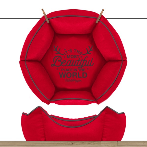 Sofa Wonderfull Hexagonal Detachable Cover - Red