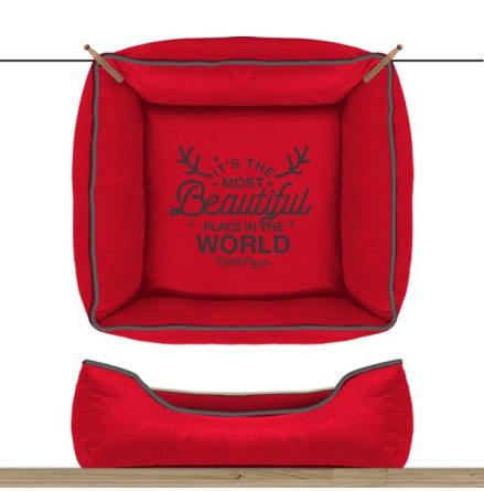 Sofa Wonderfull Square Detachable Cover - Red 55cm