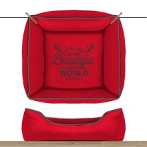 Sofa Wonderfull Square Detachable Cover - Red 55cm