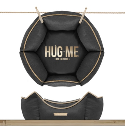 Sofa HUG ME Hexagonal Detachable Cover - Antracita/Gold