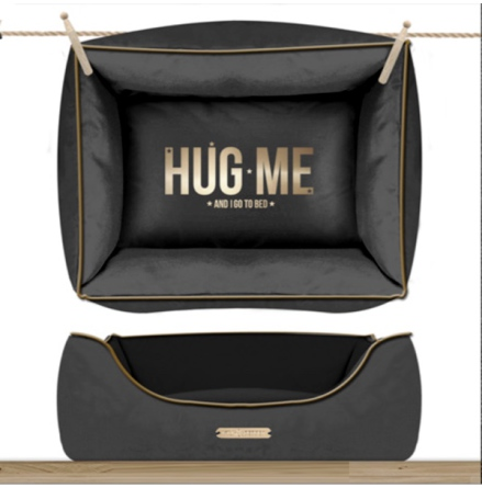 Sofa HUG ME Rectangular Detachable Cover - Antracita/Gold