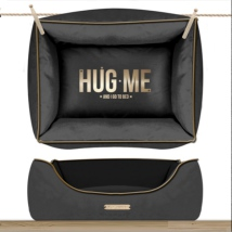 Sofa HUG ME Rectangular Detachable Cover - Antracita/Gold