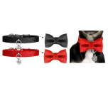 Just a Bow to put on Collars - For Cats and Dogs - Black