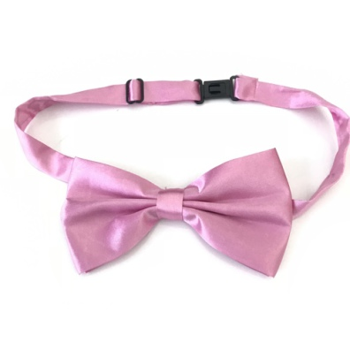 Big Bow Slidable & Adjust Strap - Mid Pink Aprox 25-46cm 13x7cm