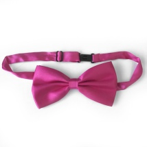 Big Bow Slidable & Adjust Strap - Dark Pink Aprox 25-46cm 13x7cm