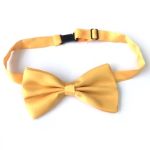 Big Bow Slidable & Adjust Strap - Yellow Aprox 25-46cm 13x7cm