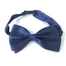 Big Bow Slidable & Adjust Strap - Dark Blue Aprox 25-46cm 13x7cm