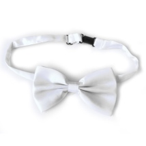 Big Bow Slidable & Adjust Strap - White Aprox 25-46cm 13x7cm