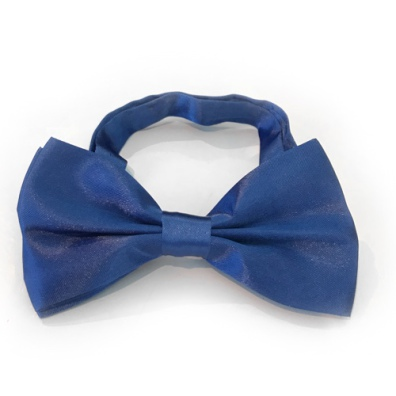 Big Bow Slidable & Adjust Strap - Mid Blue Aprox 25-46cm 13x7cm