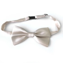 Big Bow Slidable & Adjust Strap - Beige Aprox 25-46cm 13x7cm
