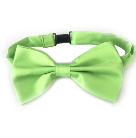 Big Bow Slidable & Adjust Strap - Light Green Aprox 25-46cm 13x7cm