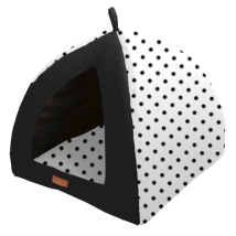Pet Bed & Cave Dots - White/Black